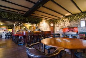 Bar at the George Inn, CAMRA pub of the year multiple award winner