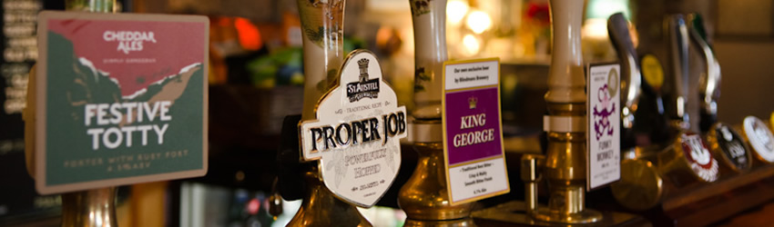 Drink at The George Inn, real ales