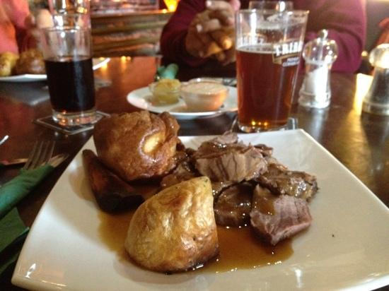 Roast Beef on Sunday is just one way to enjoy good pub food near Wells