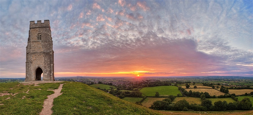 Glastonbury Tor, close to The George Inn, Croscombe